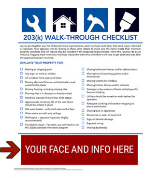 FHA 203k Home Renovation Walk-Through Checklist